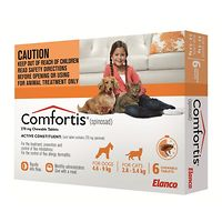 Comfortis Small Dogs 4.6-9kg - Orange 6pk