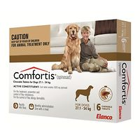 Comfortis X-Large Dogs 27.1-54kg - Brown 6pk