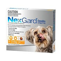 NexGard for Dogs 2-4kg - Orange 3pk