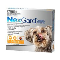 NexGard for Dogs 2-4kg - Orange 6pk