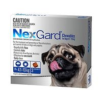 NexGard for Dogs 4.1-10kg - Blue 3pk