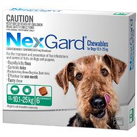 NexGard for Dogs 10.1-25kg - Green 6pk