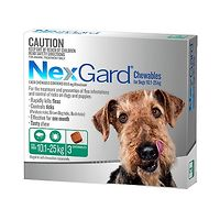 NexGard for Dogs 10.1-25kg - Green 3pk