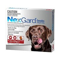 NexGard for Dogs 25.1-50kg - Red 3pk