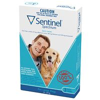Sentinel Spectrum Chew Large Dogs - Blue 3pk