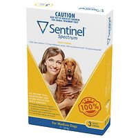 Sentinel Spectrum Chews Medium Dogs - Yellow 3pk