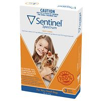 Sentinel Spectrum Chews Very Small Dogs - Orange 3pk