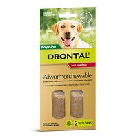 Drontal Allwormer Large Dog 35kgs - 2 Chews