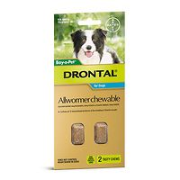 Drontal Allwormer Medium Dogs 10kgs - 2 Chews