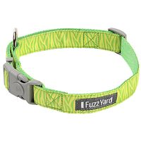 Fuzzyard Dog Collar - Tiger & Lime