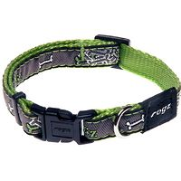 Rogz Fancy Dress Collar - Lime Bone