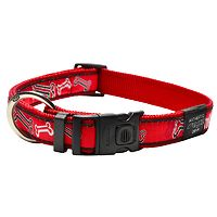 Rogz Fancy Dress Collar - Red Bones