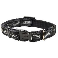 Rogz Fancy Dress Collar - Black Bones