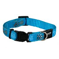 Rogz Fancy Dress Collar - Turquoise Paws