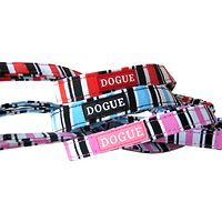Dogue Candy Striped Canvas Dog Lead