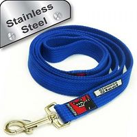 Black Dog Plain Lead Reg 1.8m Stainless Steel