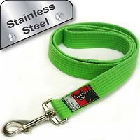 Black Dog Training Lead 1.2m Stainless Steel Regular