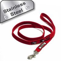 Black Dog Plain Lead 1m Mini Stainless Steel