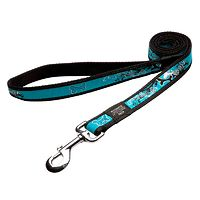 Rogz Fancy Dress Lead - Turquoise Chrome