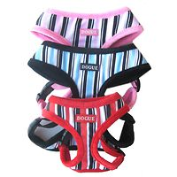 DOGUE Candy Striped Canvas Harness