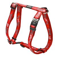 Rogz Fancy Dress Harness - Red Bones