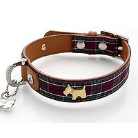Tartan Leather Dog Collar by Hamish McBeth