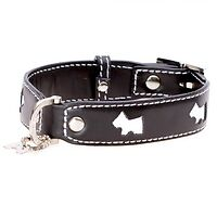 Hamish McBeth Westie Leather Collar