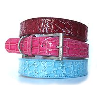 Dogue Faux Croc Skin Leather Collar