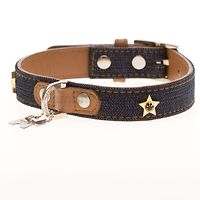 Hamish McBeth Denim Leather Dog Collar