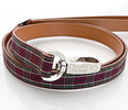 Tartan Leather Dog Leash by Hamish McBeth