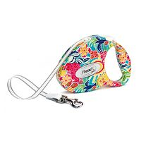 Flexi Retractable Fashion Dog Lead - Medium Tropic