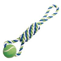 Dogit Tennis Ball Rope Dog Toy