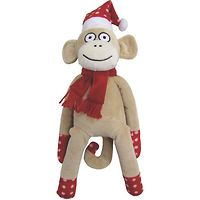 Puppy Luv Christmas Toys Sock Monkey