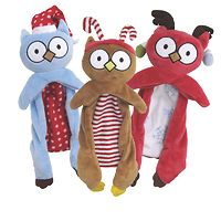 Dogit Luvz Christmas Toy Flopper Owl