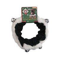 Holiday Pet Velvet Bell Collar