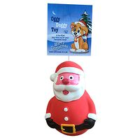 Latex Father Christmas Dog Toy