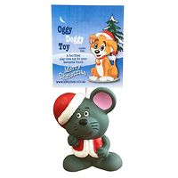 Latex Christmas Mouse Dog Toy