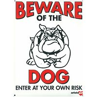 Large Beware of the Dog Gate Sign