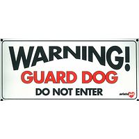 Small Warning Guard Dog Gate Sign