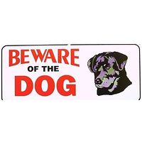 Small Beware of Dog Gate Sign Rottweiler
