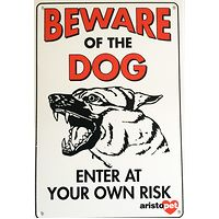 Beware of the Dog Fence Gate Sign