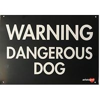 Large Warning Dangerous Dog Gate Sign