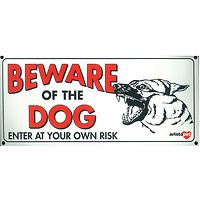 Beware of the Dog Gate Sign Small German Shepherd