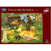 Home is Where the Heart Is Labradors Jigsaw Puzzle