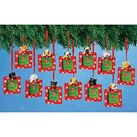 Santa's Little Helpers Photo Frame Ornament
