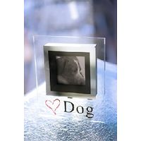 Love Dog Glass Photo Frame