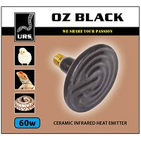 Oz Black Ceramic Globe - 60 watt
