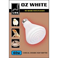 Oz White Ceramic Globe - 60 watt