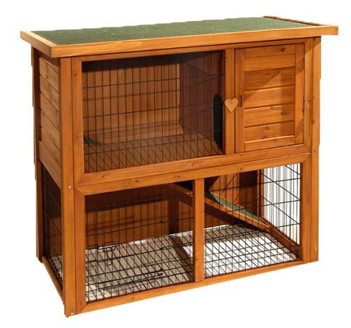lil friends double storey rabbit hutch rabbit and guinea